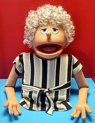 Vintage Puppet Productions Old Lady Woman Hand Made Professional Muppet Ministry