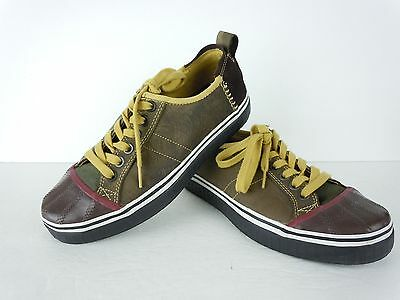 Worn Once Mens Sorel Brown Leather Fashion Sneakers Shoes Size 8