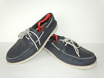 Mens Sperry Top-Sider Blue Leather Boat Shoes Size 12