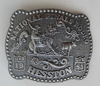 1985 National Finals Rodeo Hesston NFR Collector's Anniversary Belt Buckle