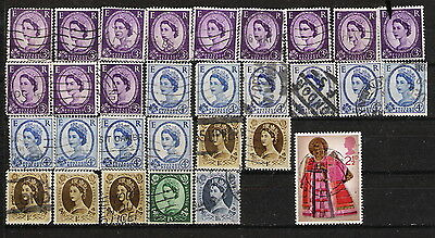 Great Britain 1952-72 Sc#292 - 680 (279 Stamps) 4 Pages  - Cat $100+  QE II