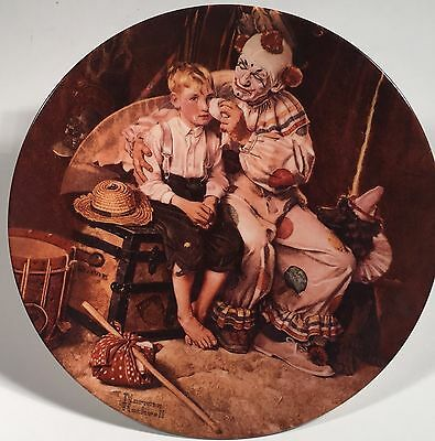 "Authentic Norman Rockwell 8"" Decorative Plate Sharing a Smile - 1999"