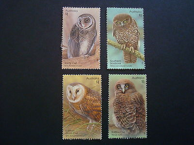 2016 - Owls - Used - Set of 4 x $1 Sheet stamps