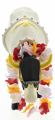 New Cow Parade White Ceramic & Porcelain Rock-In Roll Cow Figurines