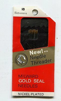 HAND SEWING NEEDLES - BETWEENS size 10 - 20 needles and needle threader
