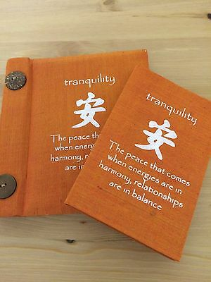 Tranquility Notebook &Tranquility Affirmation Mulberry Paper Photo Album -Orange