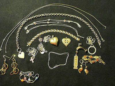Lot of Vintage Sterling Silver Jewelry 179 Grams
