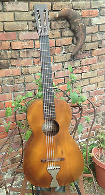SUPERTONE Sear Roebuck Parlor Guitar 1920s / 30's nocbc as is Rare