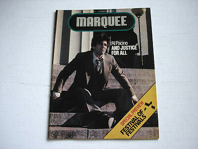 AL PACINO on cover MARQUEE magazine September 1979 FARRAH FAWCETT Brooke Shields