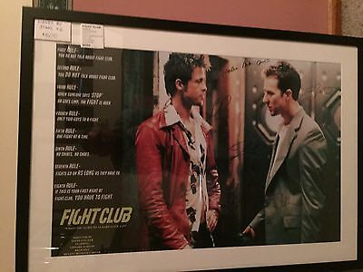 Fight Club Poster Signed By Six