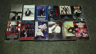 lot of 12 80s cassette tapes