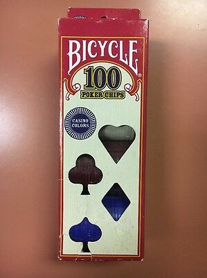 New! Bicycle Poker Chips - 100 count with 3 colors