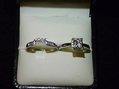 Wedding Ring Set 1ct White Gold