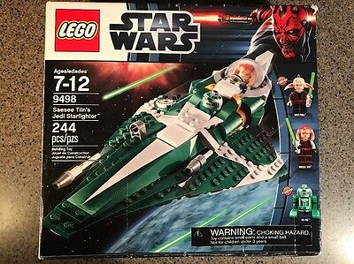 LEGO STAR WARS NEW 9498 SAESEE TIIN'S JEDI STARFIGHTER 3 FIGURES New Open Box