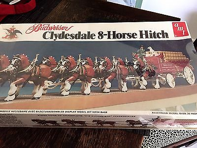 Retro Budweiser Clydesdale 8-Horse Hitch Model Kit - Unopened