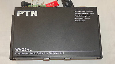 PTN WVG2AL VGA/Stereo Audio Selection Switcher 2x1