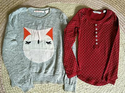 Country Road SZ 5 Girls Knit Jumper & Top EUC