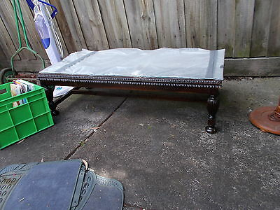 Coffee Table Wooden Base Glass Top