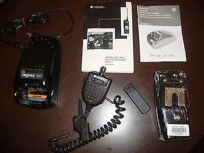 Motorola Astro XTS5000  Manual, Carry Case,Charger, Mic