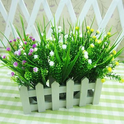 Decor Grass Flower Green Plastic Flower Artificial Grass Fake Plants Wedding