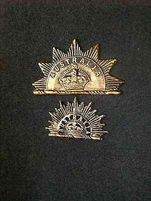 Australian Army Rising Sun Badges First Pattern 1902 - Reproduction Pair