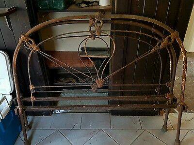 antique wrought iron bed ends