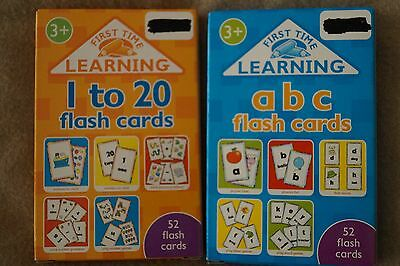 Phonics Learning Flash Cards 1 To 20 &  A B C Alphabet X2 Pack Phonics Brand New