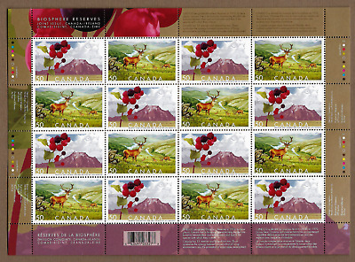 Canada Stamps - Full Pane of 16 - Biosphere Reserves #2105-2106 - MNH