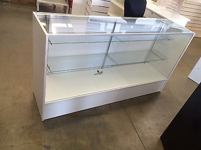 White 1500mm glass display retail shop counter !!!BRAND NEW!!! shop fittings