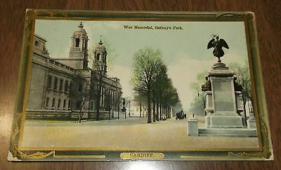 Postcard Antique - War Memorial Cathay's Park Cardiff Wales United Kingdom