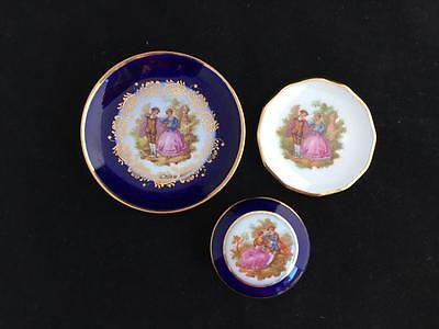 Two Limoges Miniature Plates  And A Limoges Trinket Box