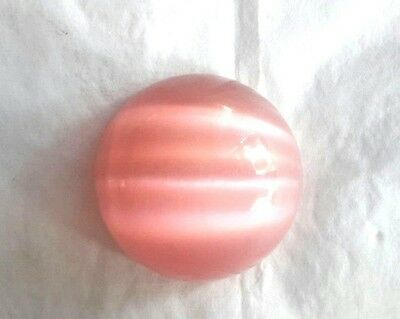 Vintage Glass Cabochon Cabs cat Eye Color Pink round 40 mm Cat eye free shipping