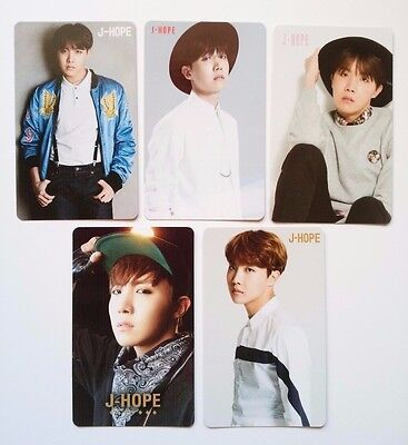 Set of 5 BTS JHOPE Japan Official Photo Card NO MORE DREAM RUN I NEED U YOUTH FY