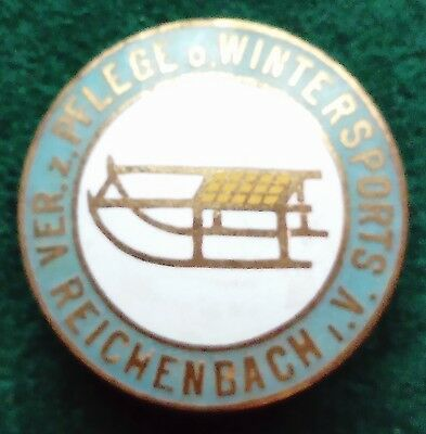 Reichenbach Bobsleigh Luge Toboggan club pin badge