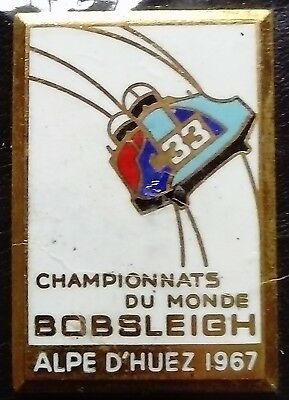 FIBT 1967 Alpe d'Huez World Bobsleigh Championship pin badge
