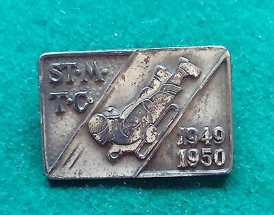 1949 1950 St Moritz Toboggan Club pin badge