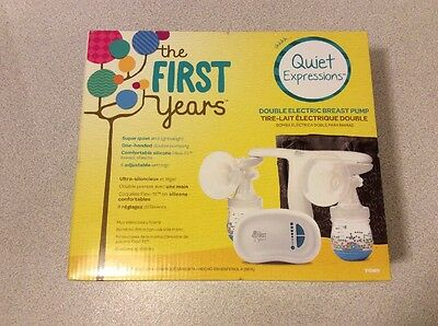 NEW Tomy The First Years Quiet Expressions Double Electric Breast Pump Brand