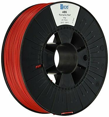 Ice Filaments Ice 7valp020ABS filamento, 1,75mm, 0,75kg, Romantic Red