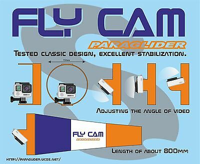 """New """"Chase Cam"""" for paramotor & paragliding, New Design """"FLY CAM"""""""