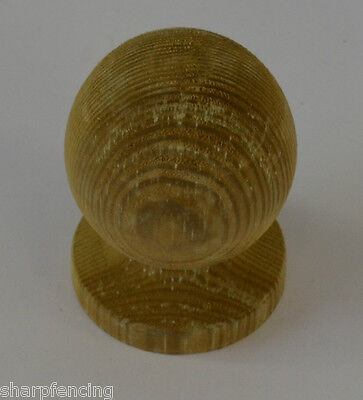 """5 x Post Ball & Collar Finial 3"""" (75mm) with Post Finial Base & Screw"""