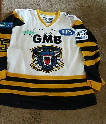 Nottingham Panthers Game blood Ice hockey shirt jersey top Championship year