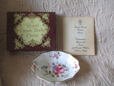 Royal Crown Derby Pin Dish in Box with Booklet