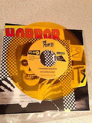 "The Misfits Horror Business First Press yellow 7"" vinyl record NM"