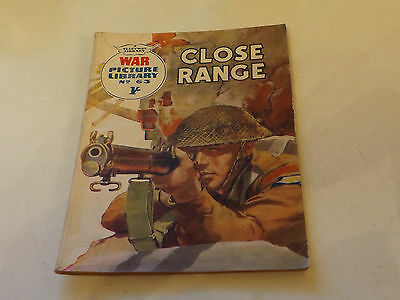 WAR PICTURE LIBRARY NO 63!,dated 1960!,GOOD for age,great 57!YEAR OLD issue.
