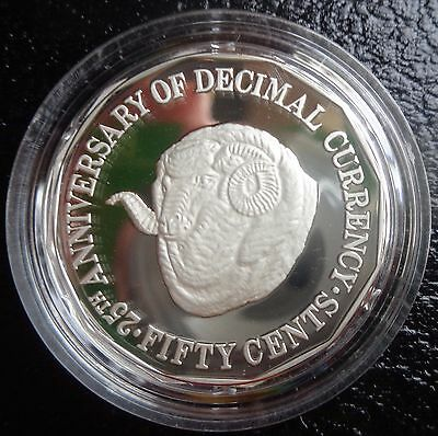 1991 silver proof 50 cent coin taken from masterpiece in silver set