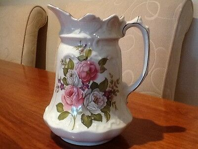 Vintage Collectable Old Foley Harmony Rose Pitcher Jug Lovely but not perfect!