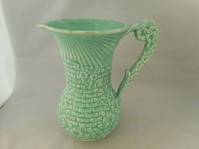 Attractive TALL Vintage ARTHUR WOOD Green Floral Pottery Jug