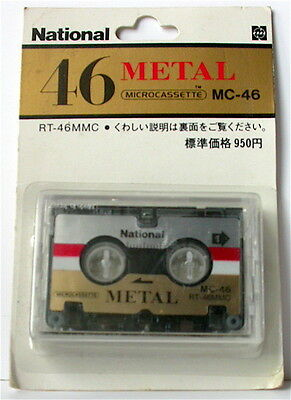 National RT-46MMC Metal micro cassette tape very rare japan market !