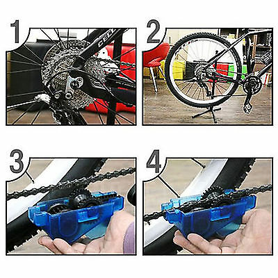 Cycling Bike Bicycle Chain Wheel Wash Cleaner Brushes Scrubber Tool Set Kit NEW