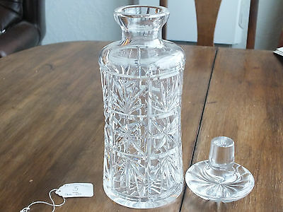 Cut Glass Lead Crystal Decanter (ref 3) with numbered stopper and base.